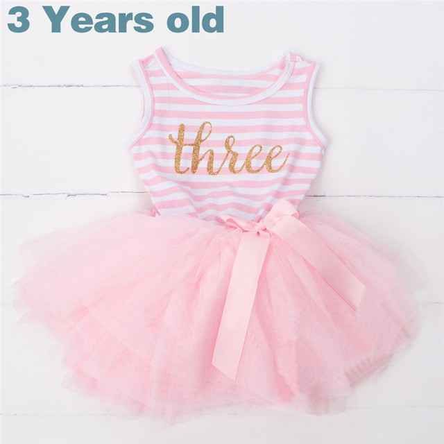 db438792c Summer Baby Girl 1 2 3 Year Birthday Dresses for Newborn Baby ...